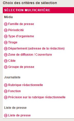 Datapresse-Critères